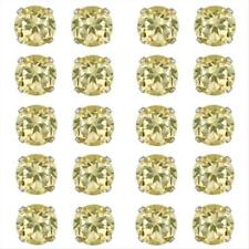 Set of 10 Silver 8ct Citrine Stud Earrings, 5mm