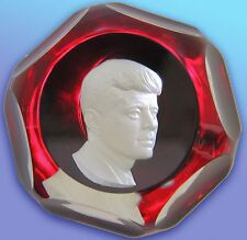 JOHN F. KENNEDY  PAPERWEIGHT.  BACCARAT FRENCH CRYSTAL -  LIMITED EDITION.