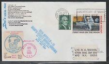 1971 US rocket mail - Doc's Local Post APOLLO 11 Moon Landing 2nd anniv.