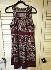 APT.9 Dress Floral Work/Career Stretch Multi Color Dress Size PL