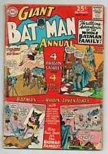 BATMAN GIANT ANNUAL ISSUE 7  - SUMMER 1964  - VG/FN CONDITION - ORIGINS ISSUE-DC