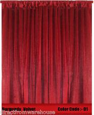 Saaria Velvet Curtain Panel Drape 6'W x 10'H Home Theater Curtain - Burgundy-01