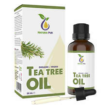 Teebaumöl BIO 50ml - 100% naturreines ätherisches Öl, gegen Pickel und Fußpilz