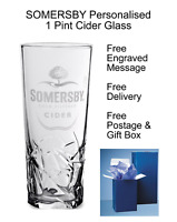 Carlsberg Somersby Cider Personalised Engraved 1 Pint Glass Glasses/Mugs/Steins