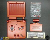 Game Boy Advance SP Full Housing Shell Groudon Repair Kit Case Nintendo 🚀 🚀