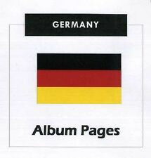 Germany - CD-Rom Stamp Album 1851- 2013 Color Illustrated Album Pages