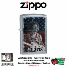 Zippo Jimi Hendrix American Flag Lighter, Street Chrome Finish #29175