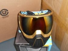 New HK Army KLR Thermal Paintball Goggles Mask - Gold w/ Fusion Lens
