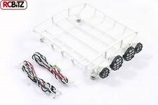 FASTRAX MEDIO ARROTONDATO bagagli Vassoio con 4 Luci Set Bianco Fast 308-MW Rack FTX