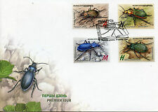 Belarus 2016 FDC Insects Ground Beetles 4v Set Cover Red Book Stamps