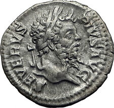 SEPTIMIUS SEVERUS 202AD Rome Authentic Ancient Silver Roman Coin Victory i63442