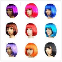 Fashion Short BOBO Women's Straight Hair Full Ladies Cosplay Costume Hair Wigs