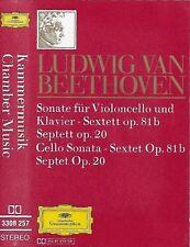BEETHOVEN CHAMBER MUSIC CASSETTE ALBUM CELLO SONATA SEXTET OP 81b SEPTET OP 20