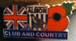 WBA WEST BROMWICH ALBION Club & Country Poppy Badge