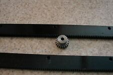 "CNC Stepper Motor Mech Rack & Gear 48"" Rack  (2 pc 24"") & 1/4"" 20T Pinion Gear"