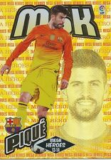 N°368 GERARD PIQUE # MEGA HEROES ESPANA FC.BARCELONA CARD PANINI MGK LIGA 2014