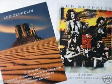 """LED ZEPPELIN """"HOW THE WEST WAS WON"""" U.S. PROMO 2-SIDED POSTER - Classic Rock"""
