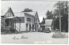 Andover ME Grocery Hardware Store Coke Telephone Signs Real Photo RPPC Postcard