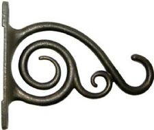 "Panacea 6"", Brushed Bronze, Cast Aluminum, Hanging Plant Bracket, W/ Scroll 2 Pk"