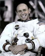 """ALAN LAVERN BEAN ASTRONAUT WALKED ON MOON 8x10"""" HAND COLOR TINTED PHOTOGRAPH"""