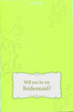 WILL YOU BE MY BRIDESMAID CARDS The Knot Wedding Print NEW