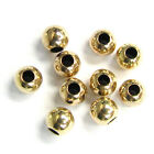 14k Gold Filled Round Seamless Bead Spacer Many Size