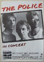 THE POLICE / IN CONCERT - BERLIN 1983 - KONZERTPOSTER