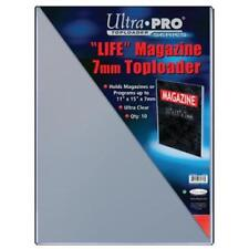 "Ultra Pro Toploader 11""x15"" Clear Magazine Holder 10 Pack - Case Life CDG"
