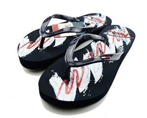 Tommy Hilfiger Damen Zehentrenner Sandale Strand Schuhe