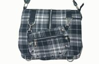 Banned Apparel Checked White Cross Body Scottish Rockabilly Shoulder Bag Small