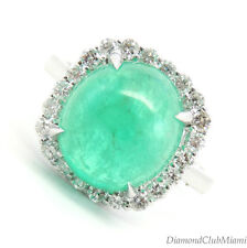 Estate  3.45ct Diamond Emerald 18k Gold Ring 5.5 Grams