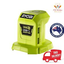 Ryobi One+ 18V USB Power Adapter 2 x USB Outlets With 1x1A & 1x2.1A Charge Speed