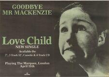 14/4/90Pgn15 Advert: Goodbye My Mackenzie The New Single love Child 7x11