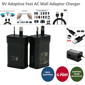Wall Adaptor For SAMSUNG S7 S6 Edge Note 4 5 C9 9V ADAPTIVE FAST Charger AC