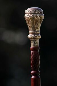 Brass Designer Art Wooden Cane Walking Stick Victorian Style Walking Cane Stick
