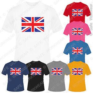 Children's Union Jack T-Shirt Britain UK Flag D2 for kids Boys Girls Top / Trans