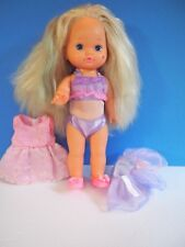Gorgeous 1988 13 Inch Mattel Lil Miss Make Up Doll with Bathing Suit and Dress