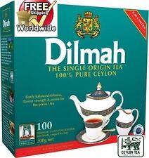 Dilmah 100 bustine di tè 200g-l' origine unica Puro Ceylon Tea