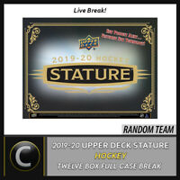 2019-20 UPPER DECK STATURE HOCKEY 12 BOX (FULL CASE) BREAK #H956 - RANDOM TEAMS