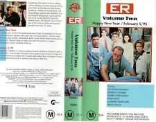 ER - VOLUME TWO - 2 x Episodes  VHS -PAL -NEW -Never played -Original Oz release