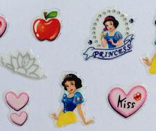 Nail Art 3D Sticker Epoxy Disney Snow white Princess Kiss Heart Apple 36pcs