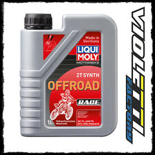 1lt 1  litro  Olio motore liquimoly Motorbike 2T Synth Offroad Race cross enduro