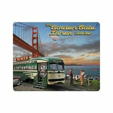 Larry grossman san francisco puente Golden Gate Diner retro chapa escudo Escudo