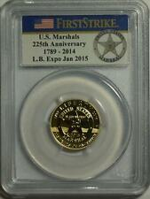 2015 W $5 U.S. MARSHALS GOLD COIN PCGS LONG BEACH EXPO FIRST STRIKE PR70