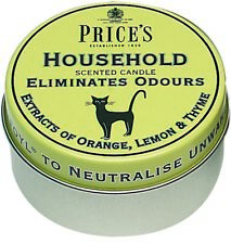 3 X Prices Household Scented Candle Tin Lid Eliminates Odours Pet Odour Fabric