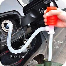 Portable Manual Car SYPHON Siphon Hose Oil Water Liquid Transfer Hand Pump Hot