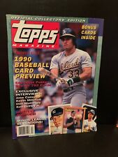 1990 Topps Magazine Premier Issue Oakland A's Jose Canseco Collector's Edition