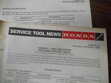 Vintage Honda Service Tool News 1984-Up CR500R 6563-8108