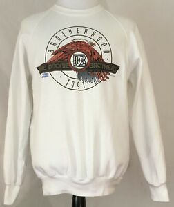 Doobie Brothers 1991 Brotherhood Tour White Sweatshirt Size XL