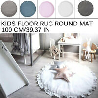 Baby Kids Floor Rug Round Cotton Game Gym Activity Play Mat Crawling